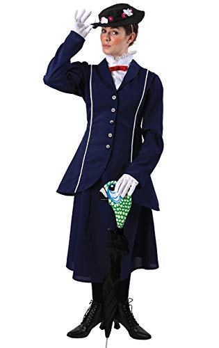 Cover Von Umbrella (ORION COSTUMES Magical Nanny Costume (And Parrot Head Umbrella Cover) - Karneval Kostüm)
