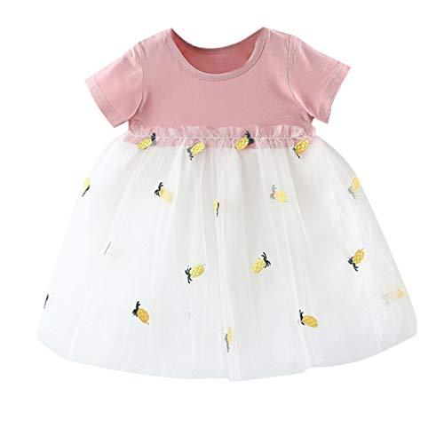 holitie Mädchen Neugeborene PrinzessinTüllkleid Spitzenkleid fest Brautkleider Kinder -