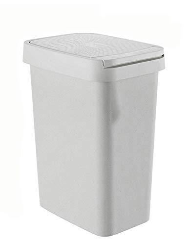 SCJS Einschussabdeckung Mülleimer Haushalt Badezimmer Wohnzimmer Schlafzimmer Mit Deckel Kreative Große Papierkorb Presse Mülleimer (Farbe: GRAU, Größe: 18,2 * 25,5 * 28) -