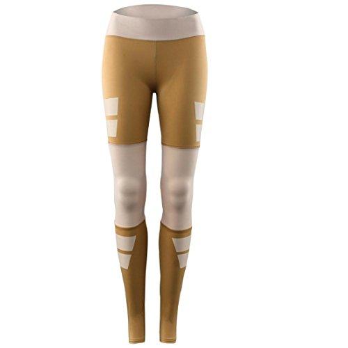 Pantalon de Sports,Tonwalk Femmes leggings Fitness/Sports/Yoga Élastique Pantalons athlétiques Café