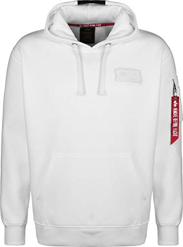 Alpha Industries Red Stripe Hoodie Weiß L -