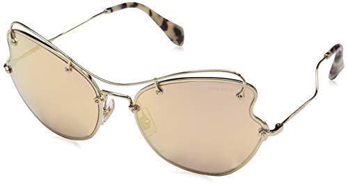 Miu Miu Damen 0MU56RS ZVN6S0 61 Sonnenbrille, (Pale Brown Rose Gold)