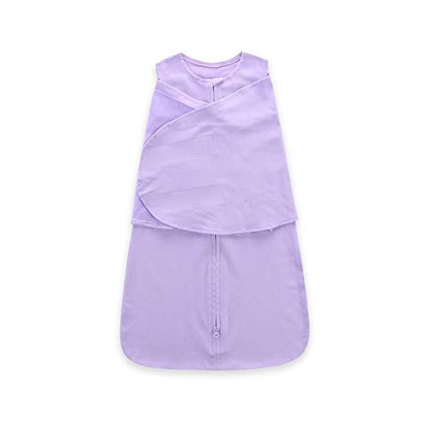 HAOHEYOU Newborn Solid Sleeping Bag Swaddle,3 6 12 18 24 Adjustable Baby Sack Wrap Wearable Blanket 3