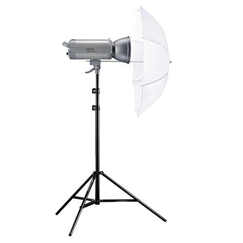 Walimex Pro VC-400 Excellence Einsteiger Studio-Set (Studioblitz 400Ws, Lampenstativ, Durchlichtschirm)