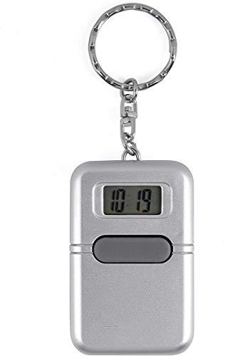 KDSSTTR Sprechende Uhr Schlüsselanhänger Uhrzeit Wecker Sprachausgabe Blindenuhr Taschenuhr Digitale Seniorenuhr LCD Sehbehinderte