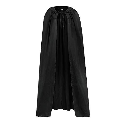 Halloween Cape Femme Chic pour SoiréE DéContracté Pas Cher Haute Qualité Veste Softshell Outerwear Manteau Femmes Long (Noir)