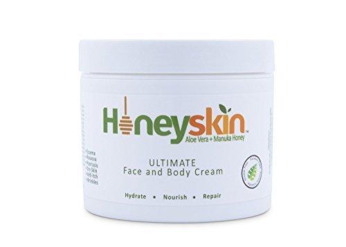 Organic Dry Skin Repair Cream (4 oz) Natural Facial Moisturizer, Rosacea, Eczema, Psoriasis, Rashes,...