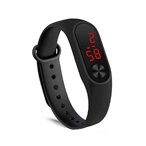 THE WATCH HUB Enterprise Red LED Illuminated Black Belt Display Digital Black Dial Boy's and Girl's Professional Watch-M2
