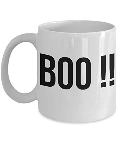 Funny Happy Halloween Coffee Mug 11 Oz Ceramic Pumpkin Scary Cup   Unique Quote Idea For Teen Men Women   White