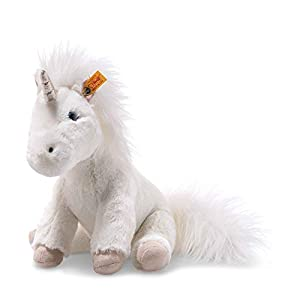 Steiff 87752 - Unicornio de Peluche (25 cm), Color Blanco