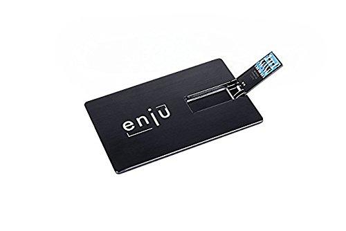 Enju - chiavetta usb a forma di carta di credito, 16 gb, per la valigetta e lo studio nero nero  16 gb
