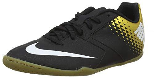 Nike Herren Bomba Ic Fußballschuhe, Mehrfarbig (Black/White/MTLC Vivid Gold 077), 43 EU