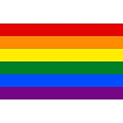 Haobase Großer Polyester hängender Regenbogen Homosexuell Lesbische Flagge LGBT Stolz Parade Frieden