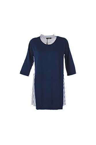 Maglia Donna Twin-set L Blu Ps73jb 1/7 Primavera Estate 2017