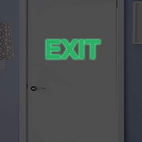 Nachtlicht Wandpaste Leuchten Grünes Licht Exit Sicherheit Ausgang Logo Wandaufkleber 6,5 X 19 Cm -
