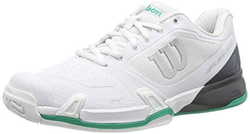 Wilson Rush PRO 2.5 2019, Scarpe da Tennis Uomo, Bianco (White/Ebony/Deep Green), 48 EU