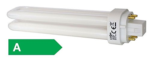 8 Stück - LUXNA LAMPS EDDE26/830 Kompaktleuchtstofflampe, 26Watt, 1800Lumen, Sockel G24q-3(4-pins), 3000K, ohne integriertes Vorschaltgerät -