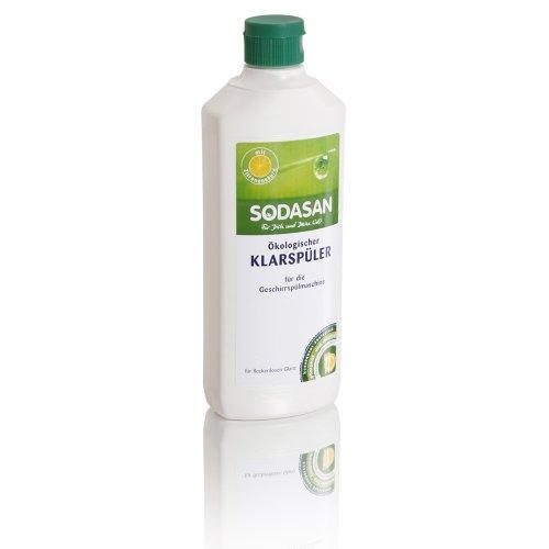 2 x SODASAN Klarspüler für Spülmaschinen umweltfreundliches Putzmittel, ökologisches Reinigungsmittel.