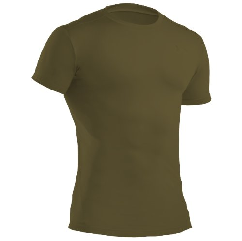 Under Armour Tactical T-Shirt Heat Gear Compression, Olivgrün, XL, UA1216007O (Armour Shorts T-shirt Under)
