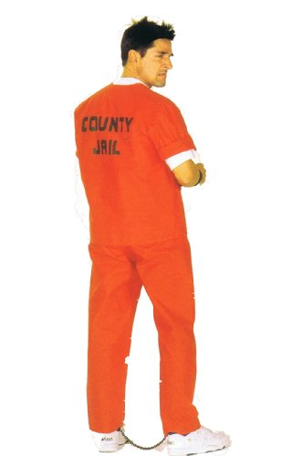 Herren Gefangene Hose Kostüm - Sträfling American Prisoner