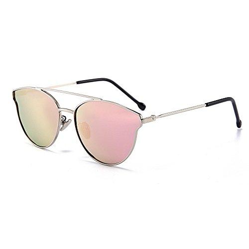 Y-WEIFENG Süße Katzenaugen Mädchen Polarisierte Sonnenbrille mit Box Metallrahmen UV-Schutz für Kinder von 3 bis 12 Jahren (Farbe : C4)