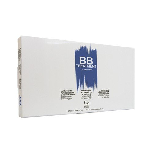Bb hair care - trattamento fiale mineralizzante ristrutturante - prodotto professionale ideale per capelli trattati e danneggiati - idratante, nutriente e ricostituente - 12 fiale da 10 ml