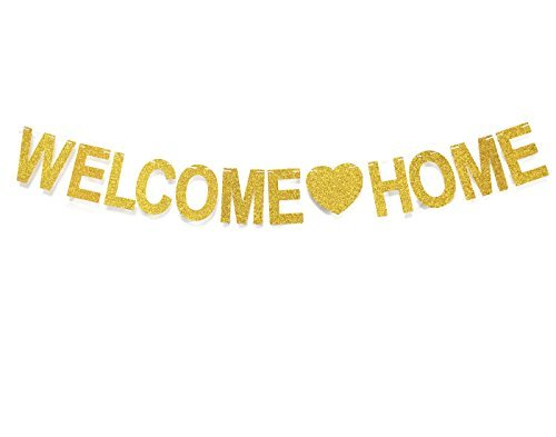 Andgo Welcome Home Banner for Home Decoration Family Party Supplies Photo Booth Props