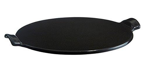 Emile Henry Pizzastein, Keramik, Kohle, 37 cm