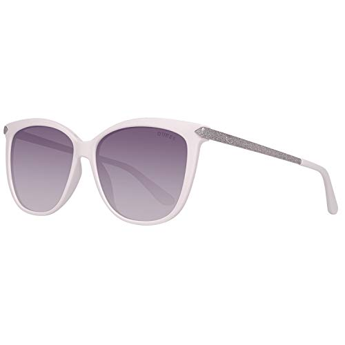Guess Damen GU7533-5721B Sonnenbrille, Weiß (White), 57