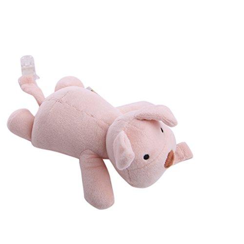 Kalttoy Mädchen Jungen Baby Schnuller Schnuller Kette Clip Plüsch Tier Spielzeug Schnuller Brustwarzen Halterung - Schwein-schnuller