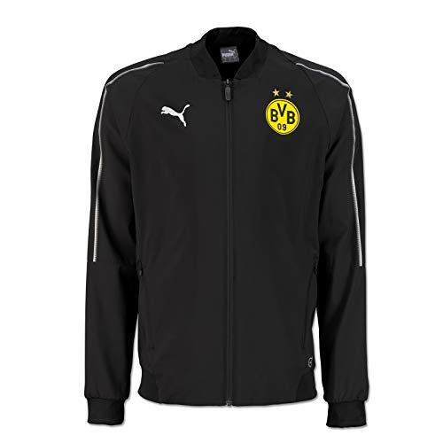 PUMA Herren BVB Leisure Jacket Without Sponsor Logo with 2 Side Pockets Jacke, Black, 3XL