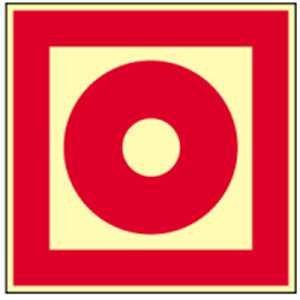 Schild Brandschutzzeichen Brandmelder manuell HIGHLIGHT PVC 14,8 x 14,8cm