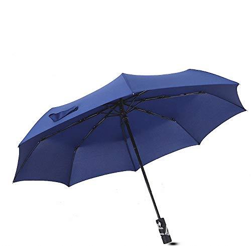 Executive-schwarz-roten Rahmen (Miarui Kompakter Business-Regenschirm - Winddichtes, verstärktes Verdeck, ergonomischer Griff, mehrere Farben,Blue)