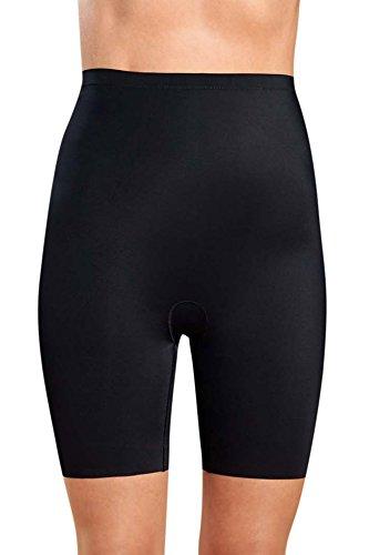 Kasheer ShapePants | figurformende Shapewear Damen | kaschierende Miederhose | optisch schlankere Silhouette | Taillenformer-Effekt | Schwarz/Hautfarben Schwarz