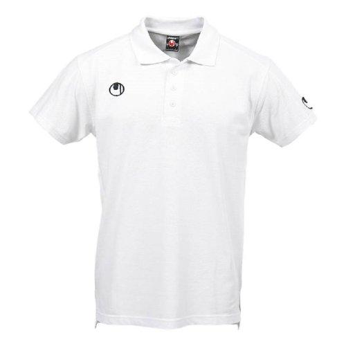 uhlsport, Polo classica, Bianco (Weiß), XS