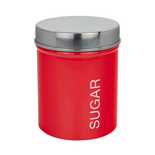 Artículos para el hogar Harbor metal Azúcar Bote - rojo - 95mm x 130mm cocina Bote