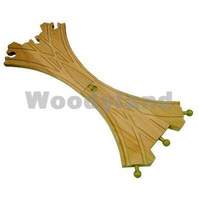HOLZEISENBAHN ZUBEHÖR EISENBAHN 2 WEICHE 3er HOLZ - paßt zu allen gängigen Holzschienen - Holzspielzeug - für Holzeisenbahn