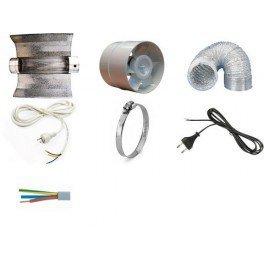 kit réflecteur cooltube + gaine et extracteur 125 mm