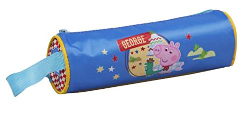 PEPPA PIG – Trousse scolaire cylindrique bleue George Peppa Pig