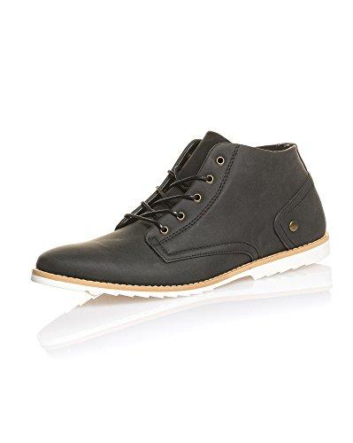 BLZ Jeans - Chaussure Homme Noire à Lacets Mode