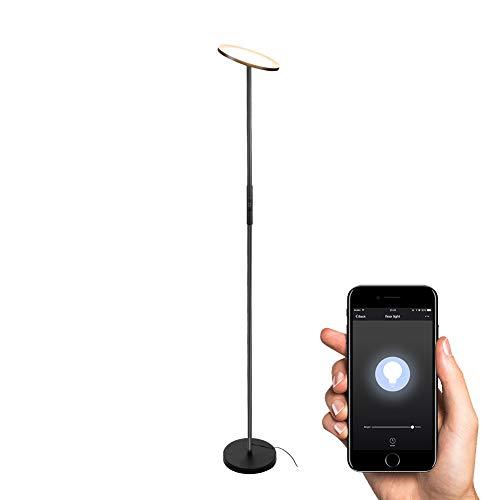 WLAN Smart Stehlampe Deckenfluter TECKIN Intelligente Dimmbar LED Stehleuchte Alexa wifi Standleuchte fernbedienbar, Kompatibel mit Alexa 3000K Warmes wei?es Licht (Schwarz)