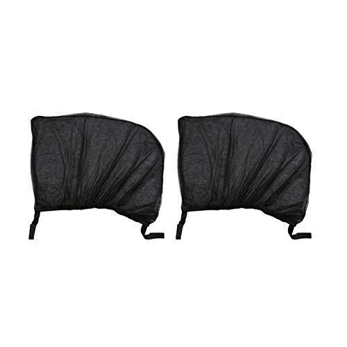 2 cortinas malla ventanilla trasera coche, flexibles