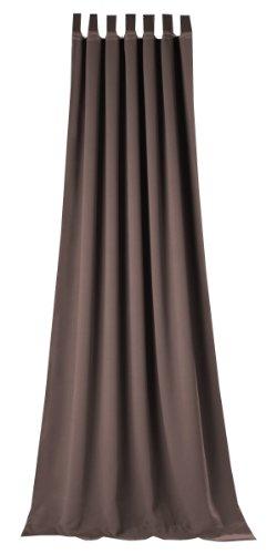 Horn textiles Corso 1-5 - Tenda con passanti tinta in pezza, 245 x 135 cm, colore: Marrone scuro