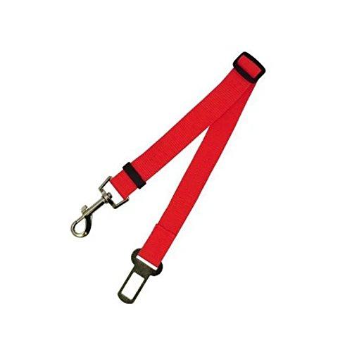 UniversalGadgets Rot, verstellbar Auto-Sicherheitsgurt für Hunde Geschirr Zurückhaltung Leine Leine Travel Clip (Travel Dog Harness)