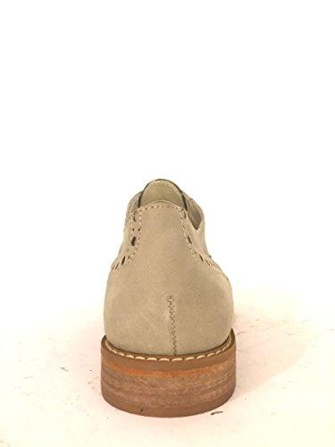 Francesine in pelle DKWOOD-553 scarpe tacco basso slip on MainApps Tortora