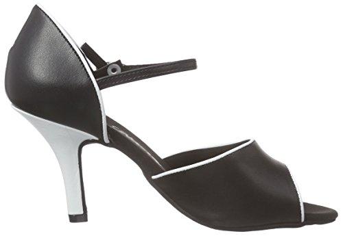 Diamant 153-058-027, Chaussures de Danse de salon Femme Multicolore (Schwarz/Weiß)