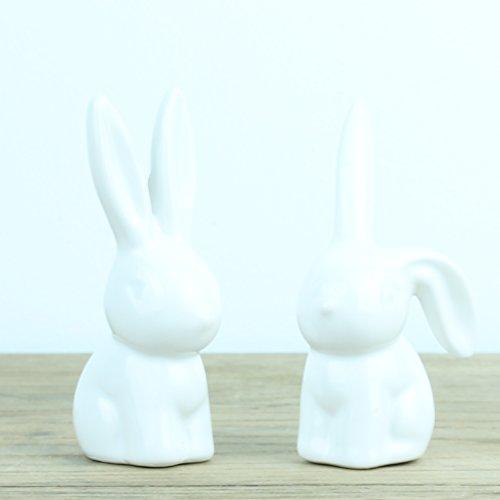 Boutique Lapin Bague support par paire ou seul, blanc, Pair (one of each design)