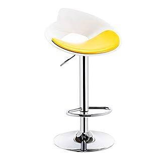 Fyyxxhh Barhocker Küchentheke Stuhl Barhocker Hochhocker Rückenlehne Heben Barhocker Rotierende Stange Moderne Mode Hocker PU Leder - Multicolor Retro Heimhocker (Color : Yellow)