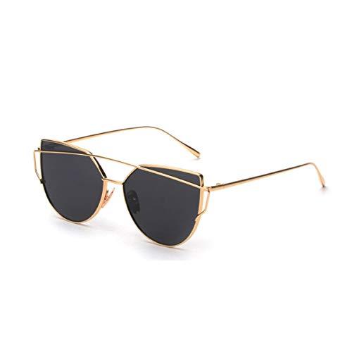 DYFDHA Sonnenbrillen Pink Vintage Mirror Female Women Cat Eye Sunglasses Brand Designer Ladies Sun Glasses For Women Oculos Feminino C4