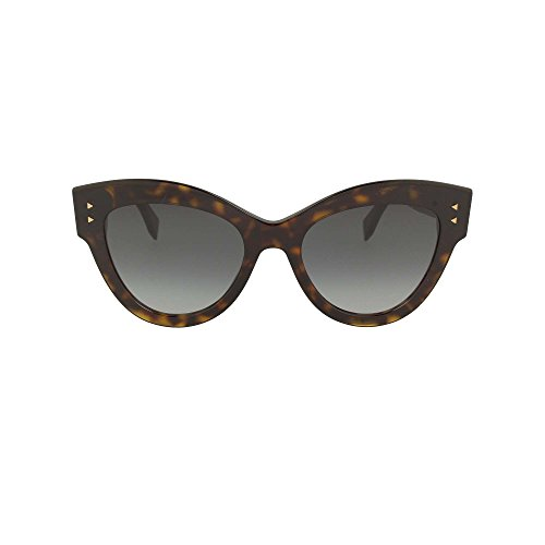 Fendi ff 0266/s 9o 086 52, occhiali da sole donna, marrone (dark havana/brown)